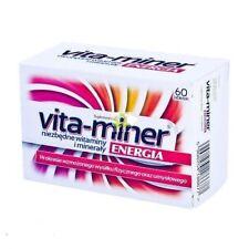 VITA-MINER ENERGIA vitamins minerals ENERGY ginseng 60 tabs IMMUNITY odporność