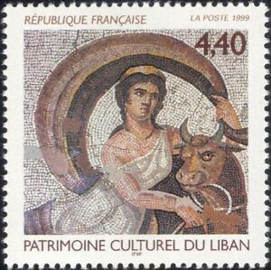 France 1999 Mosaics/Art/Craft/Ceramics/Legends/Myths/Bull/Cattle 1v (n46175)