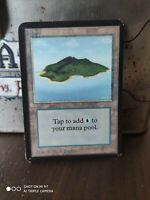 Island V2 - ALPHA Edition  - Basic Land - MTG Magic The Gathering EXC ORIGINAL