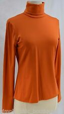 WORTH turtle neck L/S Stretch slinky jersey Top knit blouse shirt orange P $225