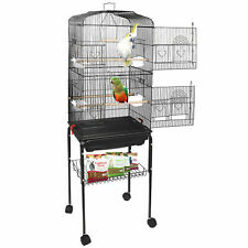 59' Rolling Bird Cage Parakeet Finch Budgie Conure Lovebird House with Stand