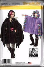 Simplicity Pattern  8018 A -  Child's, Girls' And Misses' Fleece Ponchos   S M L