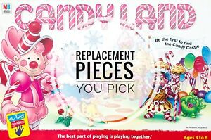 Candy Land Replacement Pieces 2001 Game You Choose Individual Parts Cards Men +