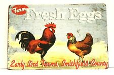 Farm Fresh Eggs Tin Poster Sign Vintage Style Country Kitchen Home Market Shop 1