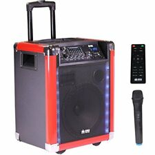 "EMB PRO PKL600BK 10"" Rechargeable Portable Bluetooth 1000W w/ LED USB/SD/FM/AUX"