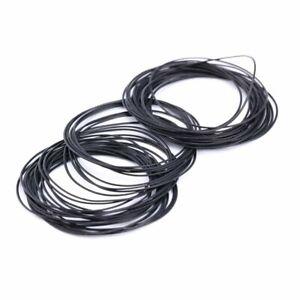 950 Wasserdicht O Ring Dichtungsring Gummi Ringe für Armbanduhr Schwarz 0.5mm