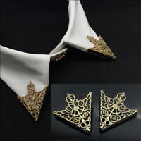 Neck Tip Brooch Pin Spike Stud Triangle Blouse Shirts Collar Clip Chain Punk New