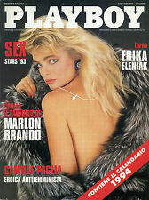 PLAYBOY/ DIC/1993 * TORNA ERIKA ELENIAK * CROLLA IL PARADISO DI MARLON BRANDO *
