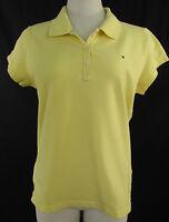 TOMMY HILFIGER Kurzarm Poloshirt, T-Shirt Polera Baumwolle gelb Gr. XL ca. 38