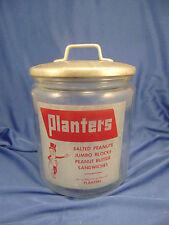 Planters Mr Peanut glass jar aluminum lid Jumbo Blocks store display Advertising