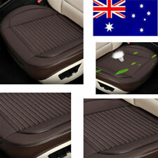 Full Surround PU Leather Auto Front Seat Covers Protector Wear Resistant Coffee