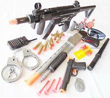 3x Toy Guns Military MP5 Dart Rifle Pump-Action Toy Shotgun Colt .45 Police Set