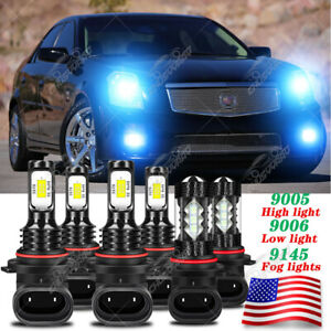 For Cadillac CTS 2003 2004 2005 2006 2007 Combo LED Headlight Fog Light 6*Bulbs