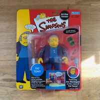 The Simpsons Fat Tony WOS Action Figure Playmates - Brand New