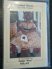 Annie Beez Folk Art JUBAL DAVIS Civil War Volunteer Doll Pattern  28