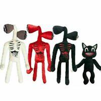 Cartoon Siren Head Horror Black Cat Plush Toy Stuffed Doll Kids Christmas Gifts