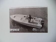 advertising Pubblicità 1981 MOTOSCAFO ILVER OPEN 23'