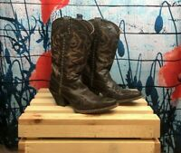 Durango Western Cowboy Boots Brown Leather Womens US 7.5M