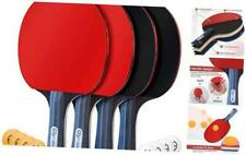 New listing Ping Pong Paddles Set of 4 Table Tennis Rackets with 8 Balls, Storage Case