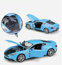 WELLY 1/24 Scale Blue Diecast Aston Martin Vanquish Vehicle Car Model Toy