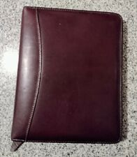 Franklin Quest Classic Planner Binder Burgundy Full Grain Aniline Leather Covey