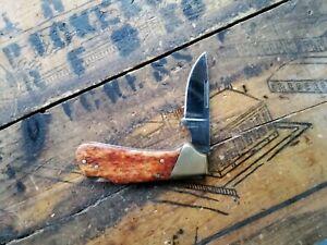 Vintage KAI Kershaw 2105 Little Stud Knife Appaloosa Bone Portland Oregon