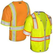 High Visibility workwear Vest CLASS 3 HEAVY DUTY SAFETY VEST High vis/viz UK