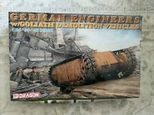Open Box Dragon #6103 German Engineers w/Goliath Demolition Vehicles 1:35 Scale