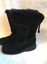 KHOMBU  Nordic Winter Insulated Boot Mukluk Suede Faux Fur Black 9 B,M