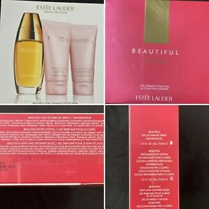 ESTEE LAUDER Beautiful Ultimate Collection EDP Body Lotion Shower Gel 3 x 75ml
