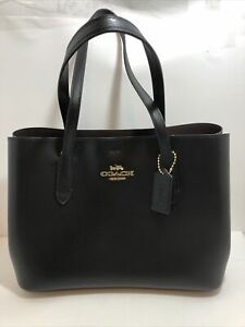 Coach Black Oxblood Bag - F48733 - LTH Avenue Carryall - Leather