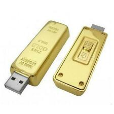 Gold Bar Model 64GB Usb 2.0 Flash Memory Stick Pen Drive Z28 Sale