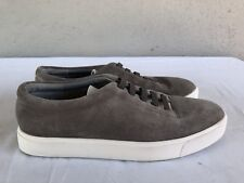 $225 MINT Vince Gray Suede Low Top Lace Up Sneakers Women Size 37.5 US 7M