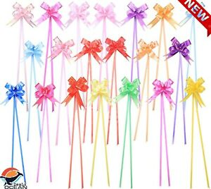 200PCS Mini Gift Wrapping Bows, 4 Inch Baskets Ribbon Pull Bows,...