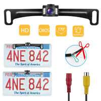 Car License Plate Front /Rear View Backup Reverse Camera Waterproof Night Vision