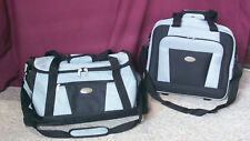 """Travel Luggage Bella Russo 2 Piece 16"""" Roller & 23"""" Duffle Black Gray  Polyester"""