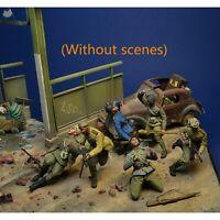 1:35 Resin figures model kit Fighting soldiers 6 man F250 Unassembled Unpainted