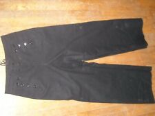 Vtg Wwii Style Mens 31L Wool Navy 13 Button Crackerjack Military Uniform Pants