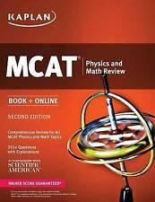 Kaplan MCAT Physics and Math Review 2016: Book + Online (Kaplan Test Prep) - New