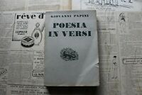 Giovanni Papini Poesía En Versos Ed Vallecchi 1942