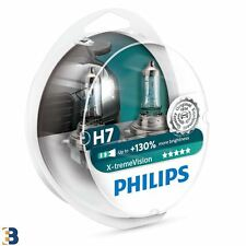 2x Philips H7 Xtreme Vision Headlight Bulbs Hard Case 12972XV+S2 NEW TWIN