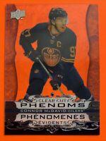 2020-21 UD Tim Horton's Clear Cut Phenoms #CC-1 Connor McDavid Edmonton Oilers