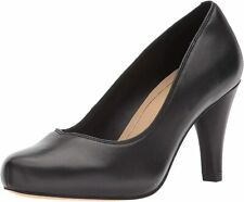 Clarks Ladies Court Shoes DALIA ROSE Black Leather UK 5.5 / 39