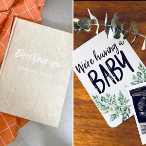 Pregnancy Journal and Pregnancy Milestone Cards - Botanical Design - Unisex