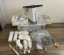 Nintendo Wii Console Bundle Games Controller Intec Travel Hard Case Tested Works