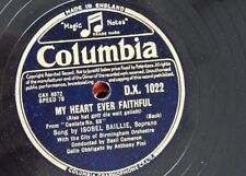 "78rpm 12"" ISOBEL BAILLIE my heart ever faithful / art thou troubled DX 1022"