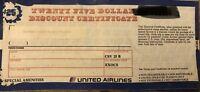 United Air Lines, Inc. Vintage $25 Discount certificate