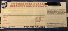 United Air Lines, Inc. Vintage $25 Discount certificate