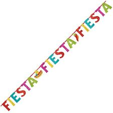 12ft Fiesta Jointed Letter Banner Mexican Spanish Wild West Party Decoration
