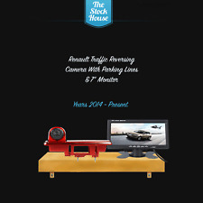 "Renault Traffic Reversing Camera & 7"" Monitor Brake Light Reverse Cam 2014 On"